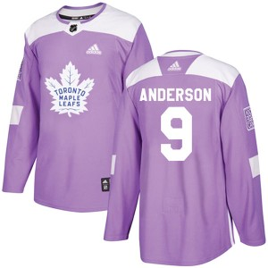 Adidas Glenn Anderson Toronto Maple Leafs Men's Authentic Fights Cancer Practice Jersey - Purple