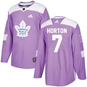 Adidas Tim Horton Toronto Maple Leafs Youth Authentic Fights Cancer Practice Jersey - Purple