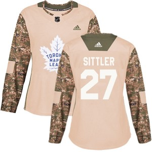 Adidas Darryl Sittler Toronto Maple Leafs Women's Authentic Veterans Day Practice Jersey - Camo