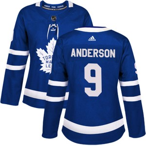 Adidas Glenn Anderson Toronto Maple Leafs Women's Authentic Home Jersey - Blue