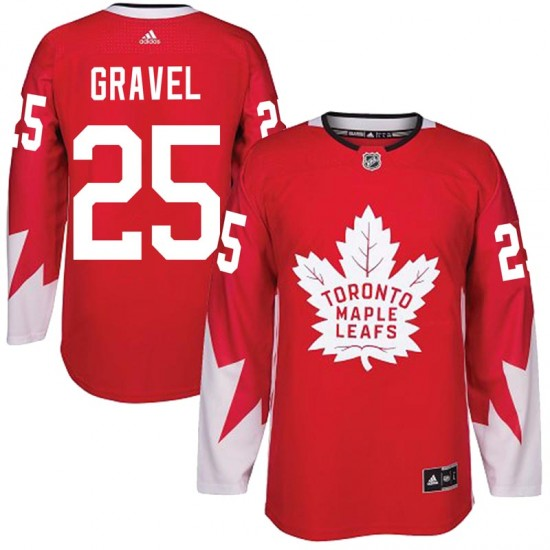 Adidas Kevin Gravel Toronto Maple Leafs Men's Authentic Alternate Jersey - Red